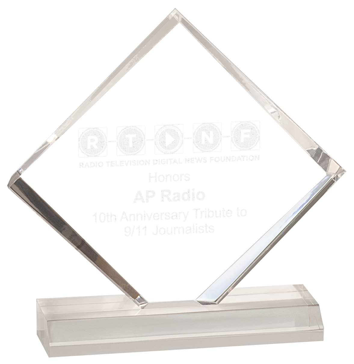3 4 thick clear bevel acrylic diamond on a base also in jade acrylic available in four sizes - Plaque plexiglas transparent ...